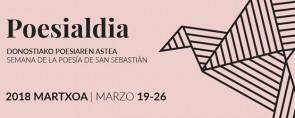 Poesialdia, Semana de la Poesía de San Sebastián: del 19 al 26 de marzo