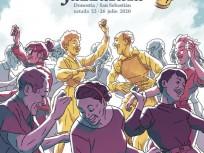Donostiako Jazzaldia. Cartel del 2020 obra de Joseba Larratxe