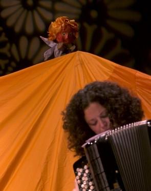 Printze txikia eta Anne Landa akordeoiarekin