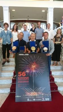 Fotografía de los premiados